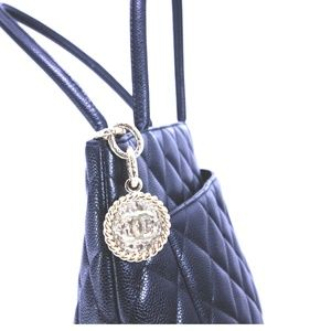 CHANEL Bags - Chanel Black Caviar Leather Quilted Medallion Tote